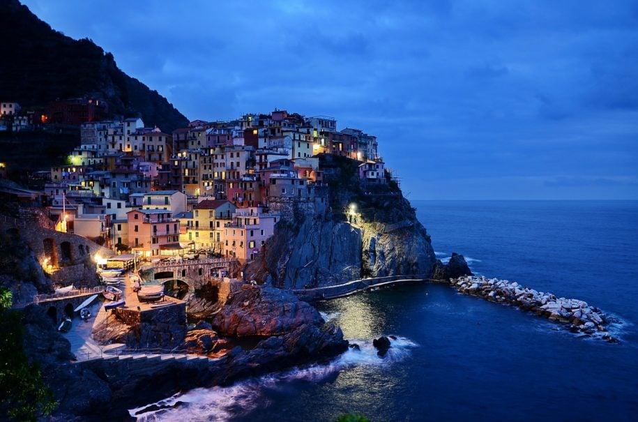 Amalfi coast at night