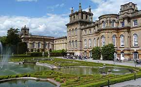 Entrance and gardens of Royal Palace