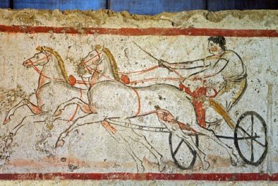 Preserved ancient Art on display at the Paestum.