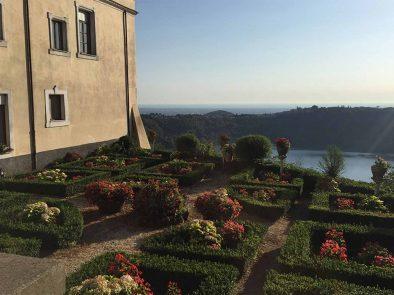 The beautiful gardens of Castelli Romani.