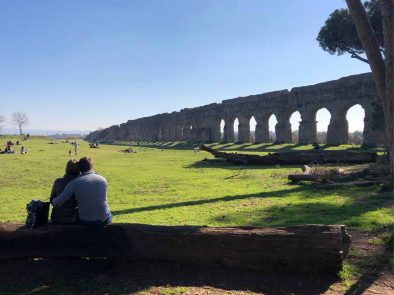 Ancient Roman aqueduct that is part of our Ancient Rome with a private driver tour.
