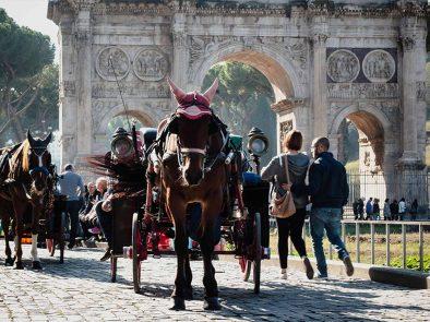 kids enjoying a tour of the Colosseum.