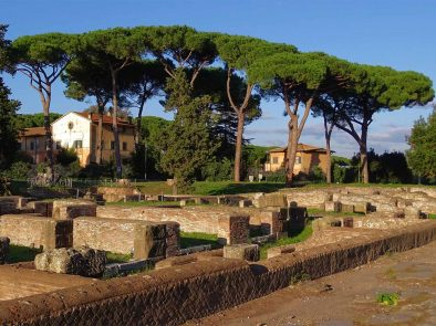 Visiting ancient roman ruins and sites with a private guide.