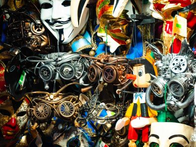 Local shop selling Venetian masks.