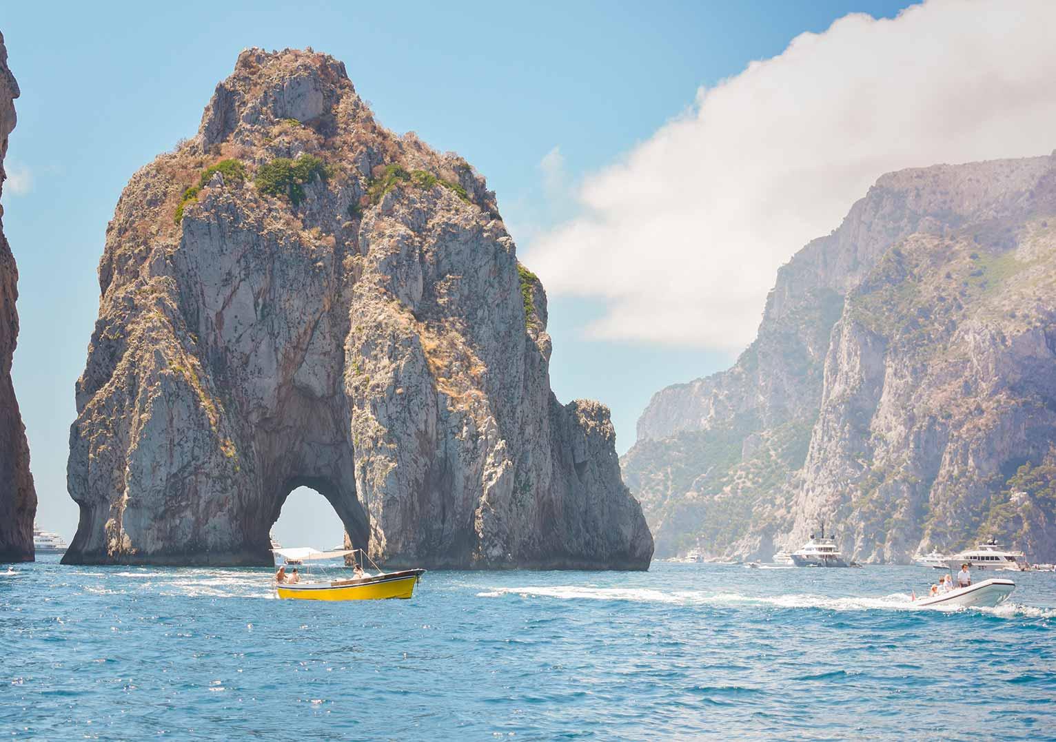 Boat trip of Capri