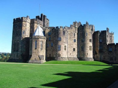 Alnwick castle used as the location for Hogwarts school in Harry Potter.