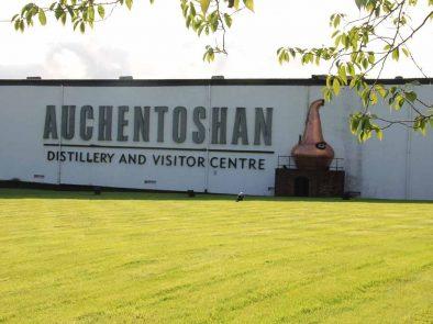 Auchentoshan distillery and visitor center tour.