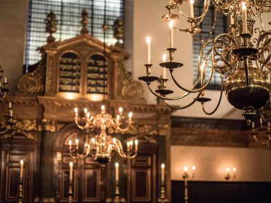 Bevis Marks Synagogue visited on the Jewish tour of London.