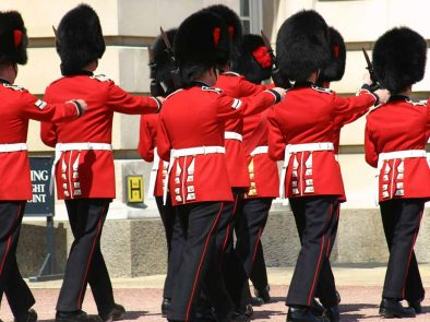 View the changing of the guard outside buckingham palace on our walking tour.