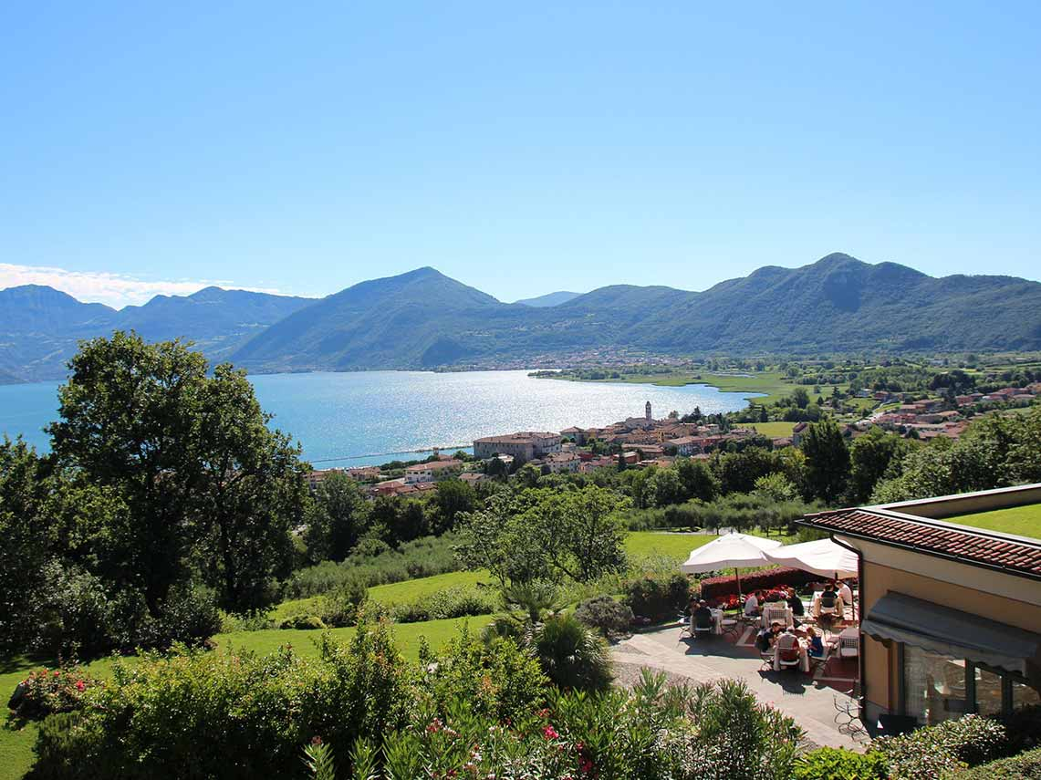 Enjoying wine and food in a private villa in Franciacorta, Lake Iseo, Italy