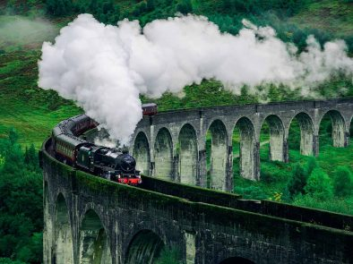 Glenfinnan Viaduct in Scotland better known as Hogwarts Express on Harry Potter tour.