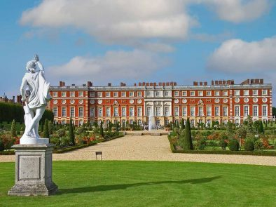 explore the grounds of hampton court palace with your guide.