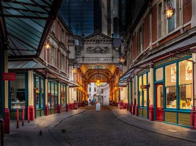 Visit Leadenhall Market on a tour of Harry Potter locations.