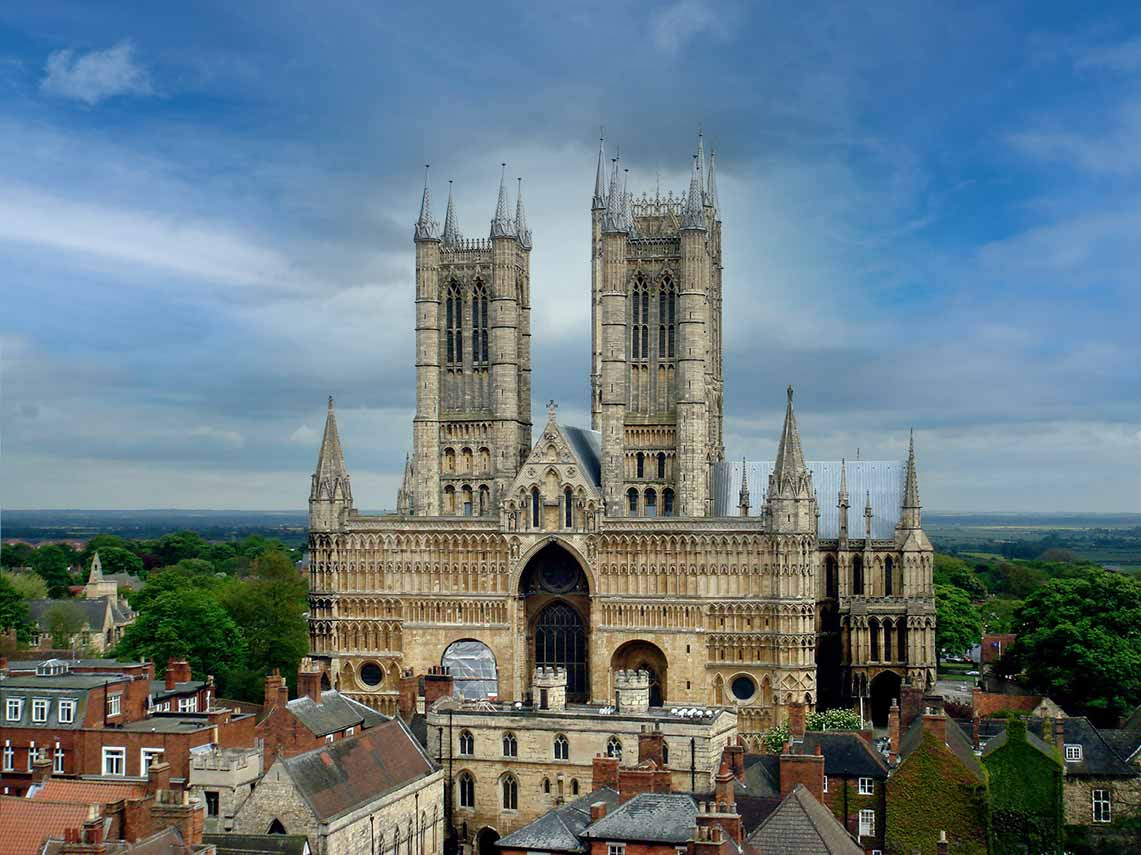 Lincoln Cathedral where the magna carta is held.