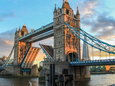 The Iconic Tower bridge in London on a private tour.