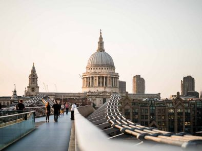 Millennium Bridge in London as seen in the Harry Potter Movies