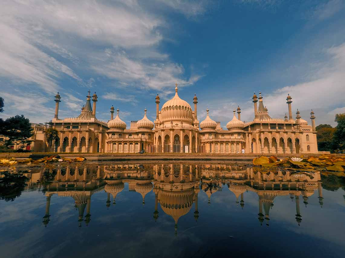 The Royal Pavilion in Brighton, heavily inspired by Indian temples.
