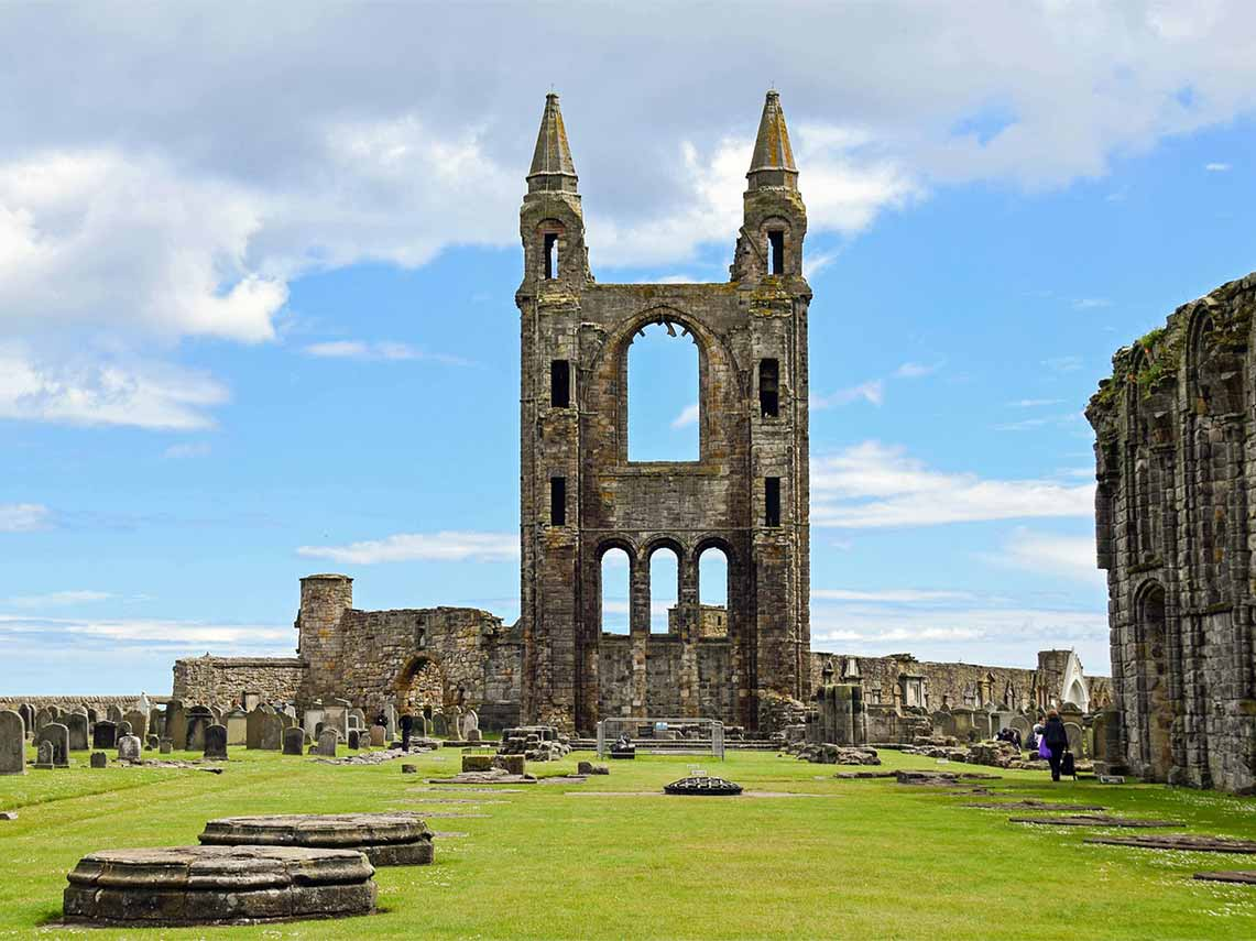 Tour of St Andrews Cathedral, Scotland